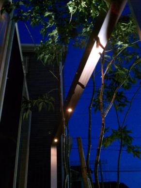 ゲートのG-フレームのLED照明