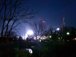 スタジアム 夜景