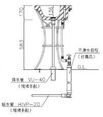 不凍水栓ユニット シャルム  構造
