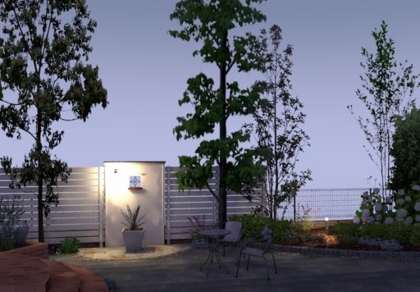 家から近景 夜