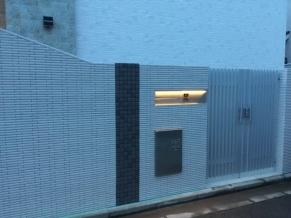 クローズ外構門袖壁照明