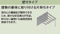 パーゴラポーチ 壁付タイプ2