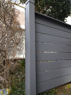 板塀塗装完成