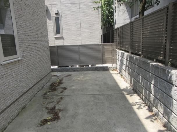 化粧ブロック+フェンス