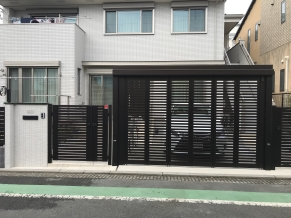 世田谷区外構電動ゲート�