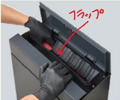 盗難防止フラップ